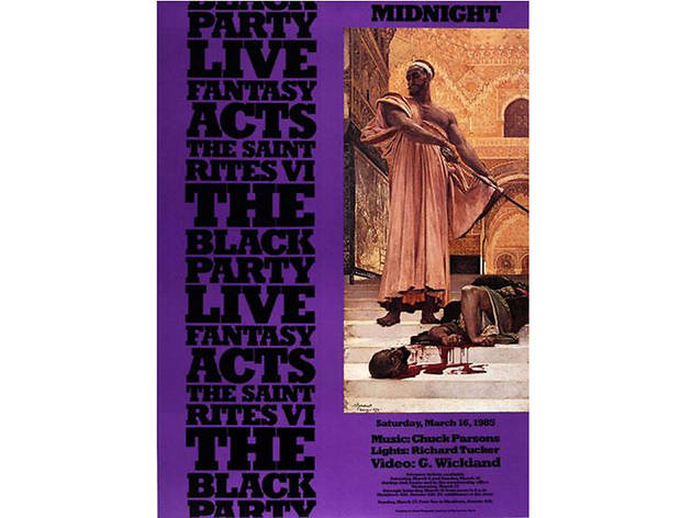 Black Party Poster, 1985