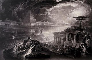 "John Martin, ""The Fall of Babylon"". (1831)."