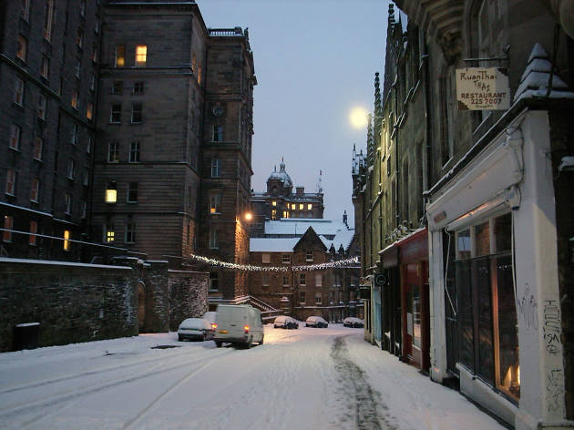 Cockburn Street before wintry sunrise