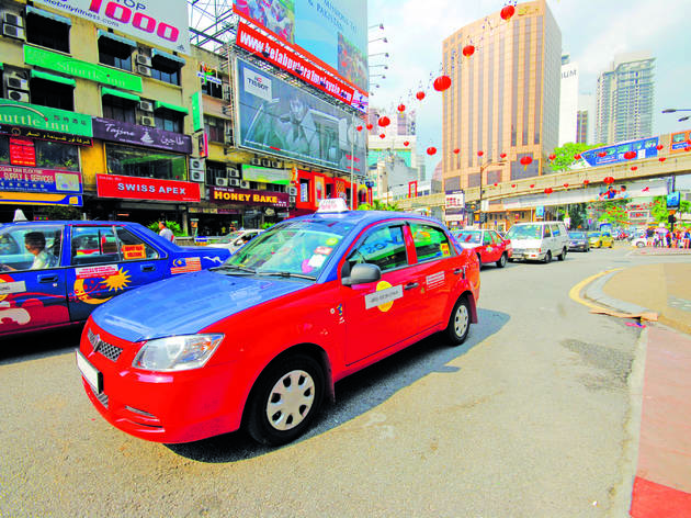 Flag down a metered taxi in Bukit Bintang