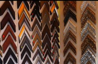 Muestrario de marcos (Foto: Gil Camargo)