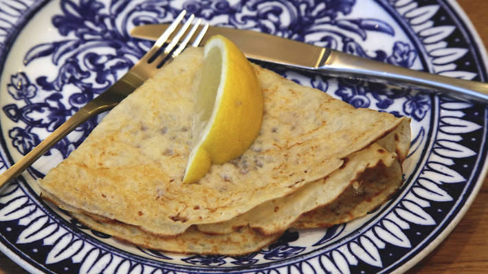 13. Lemon and sugar is the classic combo for Pancake Day