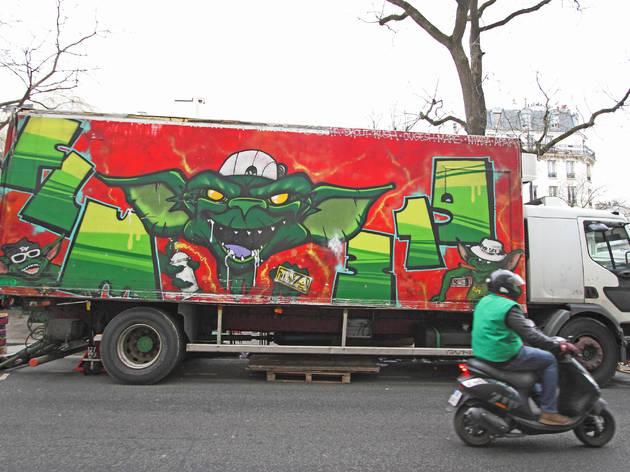 Camions Belleville Street Art marché
