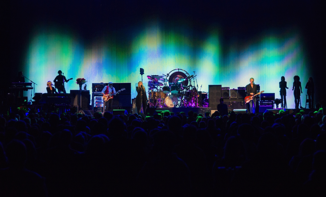 Christine McVie returns to the stage with Fleetwood Mac at a packed Allstate Arena on Feb 14, 2015.