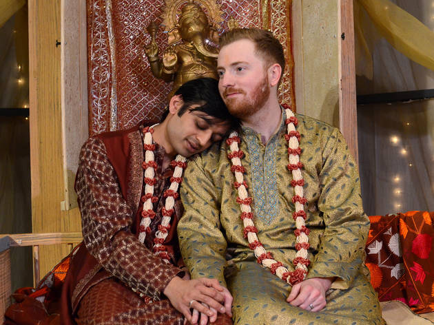 Kaiser Ahmed and Riley McIlveen in A Nice Indian Boy at Rasaka Theatre Company