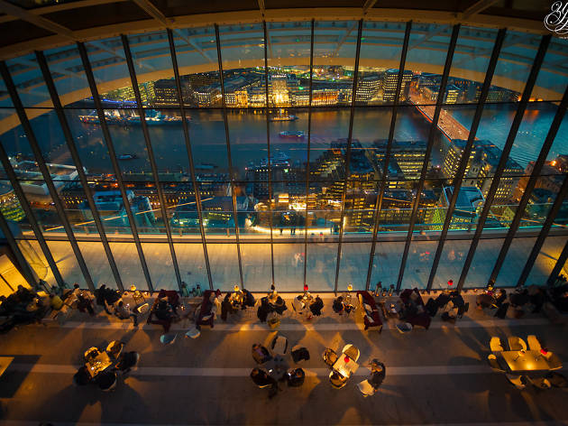 The Sky Pod bar at the Walkie Talkie's Sky Garden.
