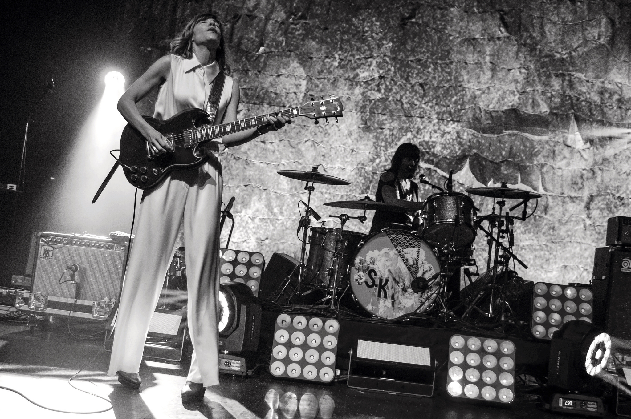 A reunited Sleater-Kinney rocks out at the Riviera theater Feb 17, 2015.
