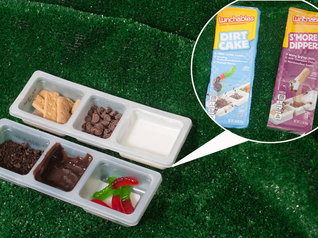 Lunchables Dirt Cake and S'mores Dippers, $1