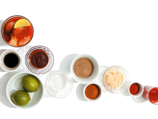 Ingredients for Bloody Mary