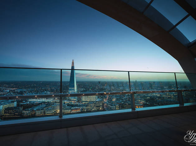 The Shard, as seen from the Walkie Talkie's Sky Garden.