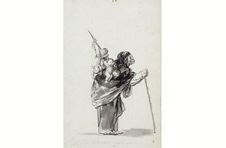 (Francisco Goya, 'Dream of a good witch', c. 1819-23. Courtesy Staatlich Museen, Berlin Preussischer, Kulturbesitz, Kupferstchkabinett, Kdz 4396)