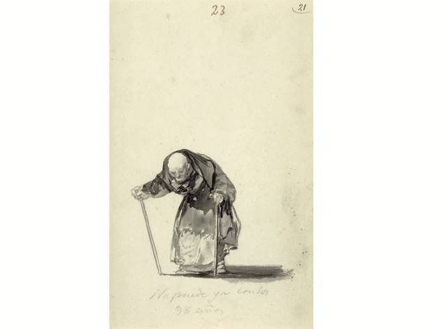 (Francisco Goya, 'He can no longer at the age of 98', c. 1819-23. Courtesy J. Paul Getty Museum)
