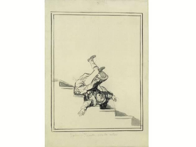 (Francisco Goya, 'Showing off- Remember your age', c. 1816-20. Courtesy Staatlich Museen, Berlin Preussicher Kulturbesitz, Kupferstchkabinett, Kdz 4396)