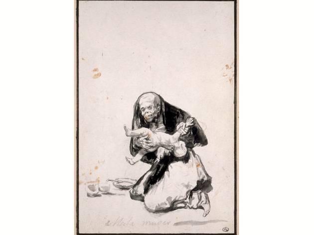 (Francisco Goya, 'Wicked woman', c. 1819- 23. Courtesy Musee de louvre, Paris)