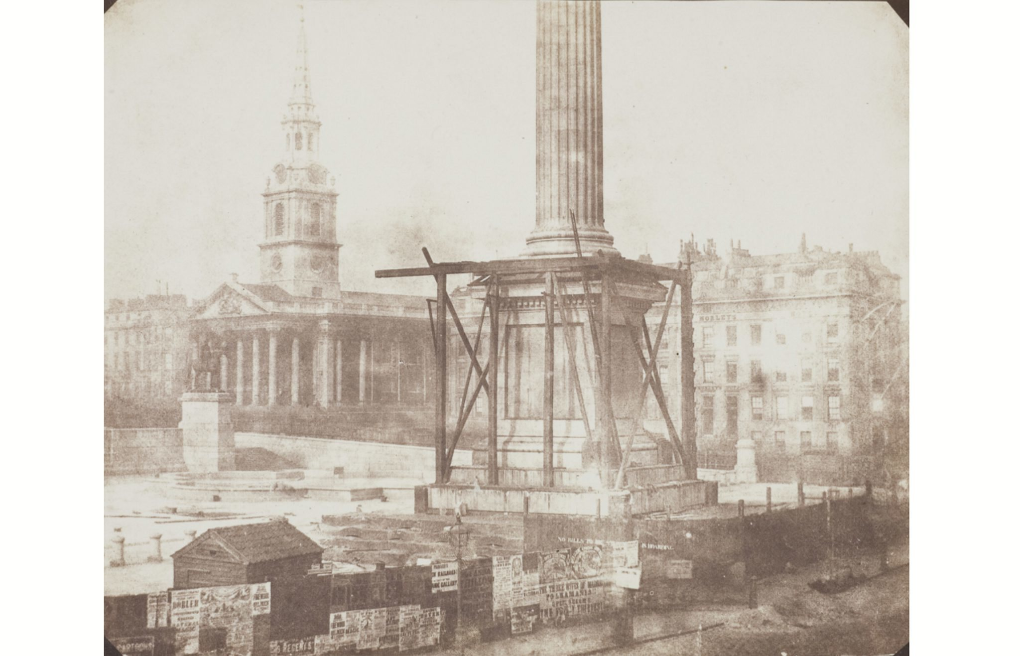 (William Fox Talbot, 'Nelson's Column, Trafalgar Square', 1843. © Wilson Centre for Photography)