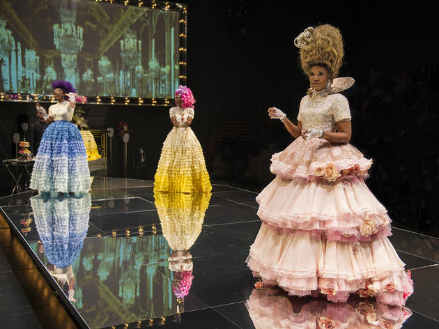 Ericka Ratcliff, Tamberla Perry and Alana Arenas in Marie Antoinette at Steppenwolf Theatre Company