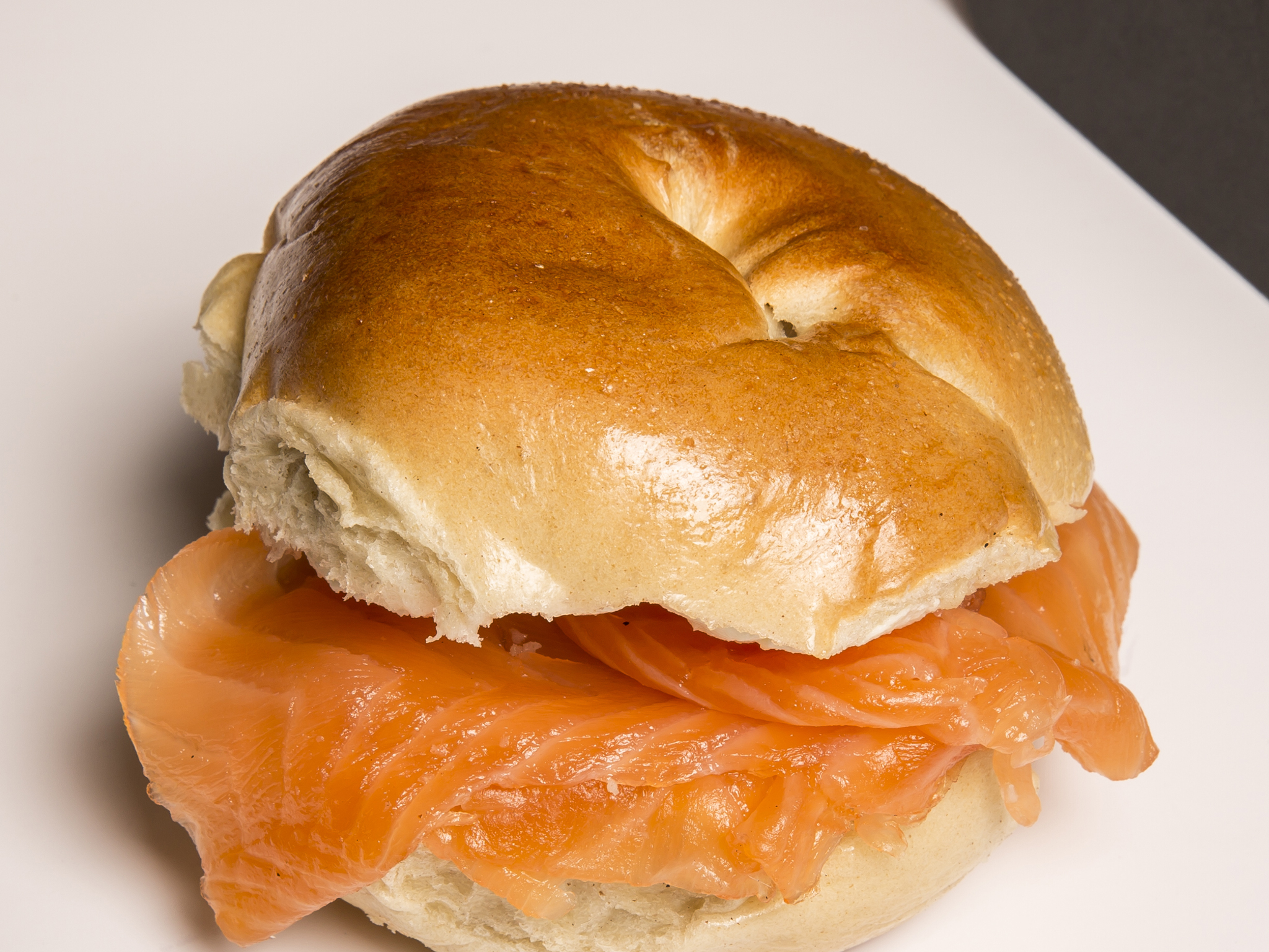 Salmon bagel Brick Lane Beigel Bake