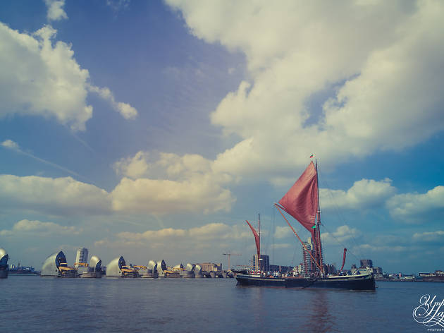 Tall Ship, Thames Barrier