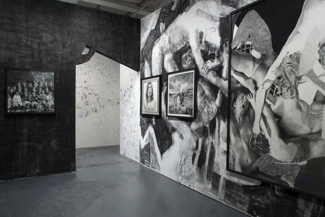 (Vue de l'exposition de Jérôme Zonder à la Maison rouge / Photo : © Marc Domage )