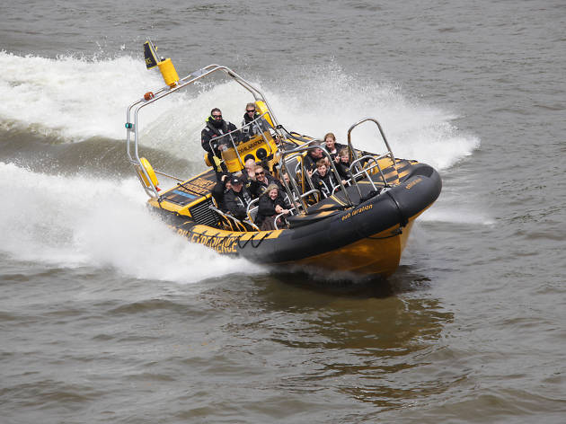 Play Bond for a day on the Thames Rib Experience