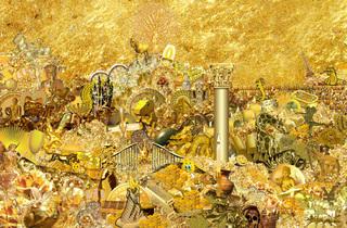 (Emilie Brout et Maxime Marion, 'Gold and Glitter' / Courtesy Galerie 22,48 m2, Paris)