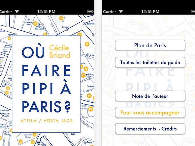 Trouver les WC les plus proches : 'Où faire pipi à Paris ?'