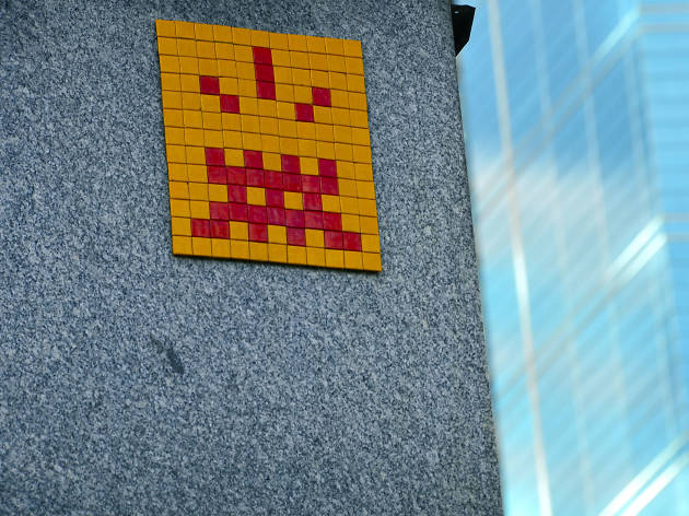 Space Invaders in the city centre