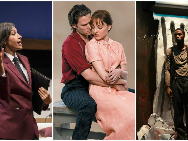 Tawny Newsome in The Upstairs Concierge; Steven Pasquale and Laura Osnes in Carousel; Travis Delgado in The Jungle