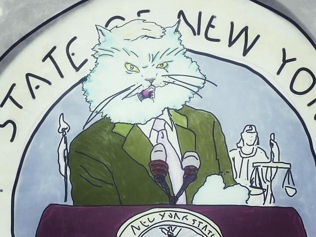 Artist renders state pols as New York kitties