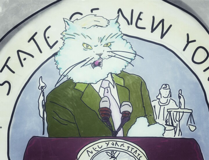 Artist renders state pols as New York kitties