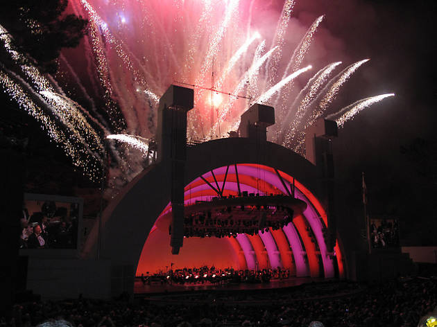 Firework finale at the Bowl