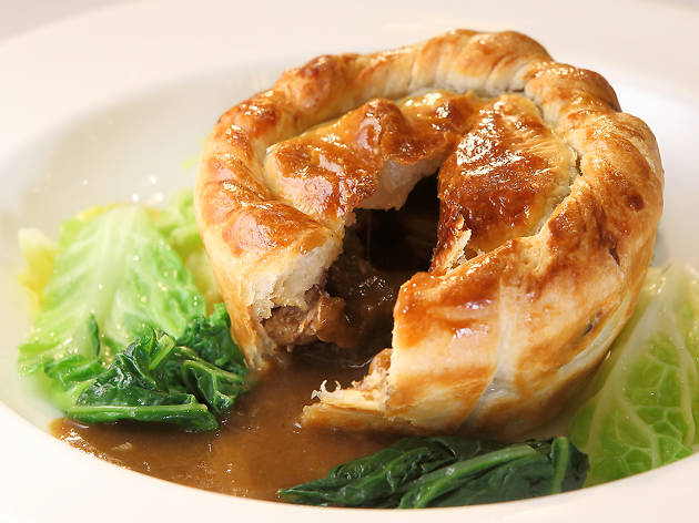 Steak and kidney pie at Rules