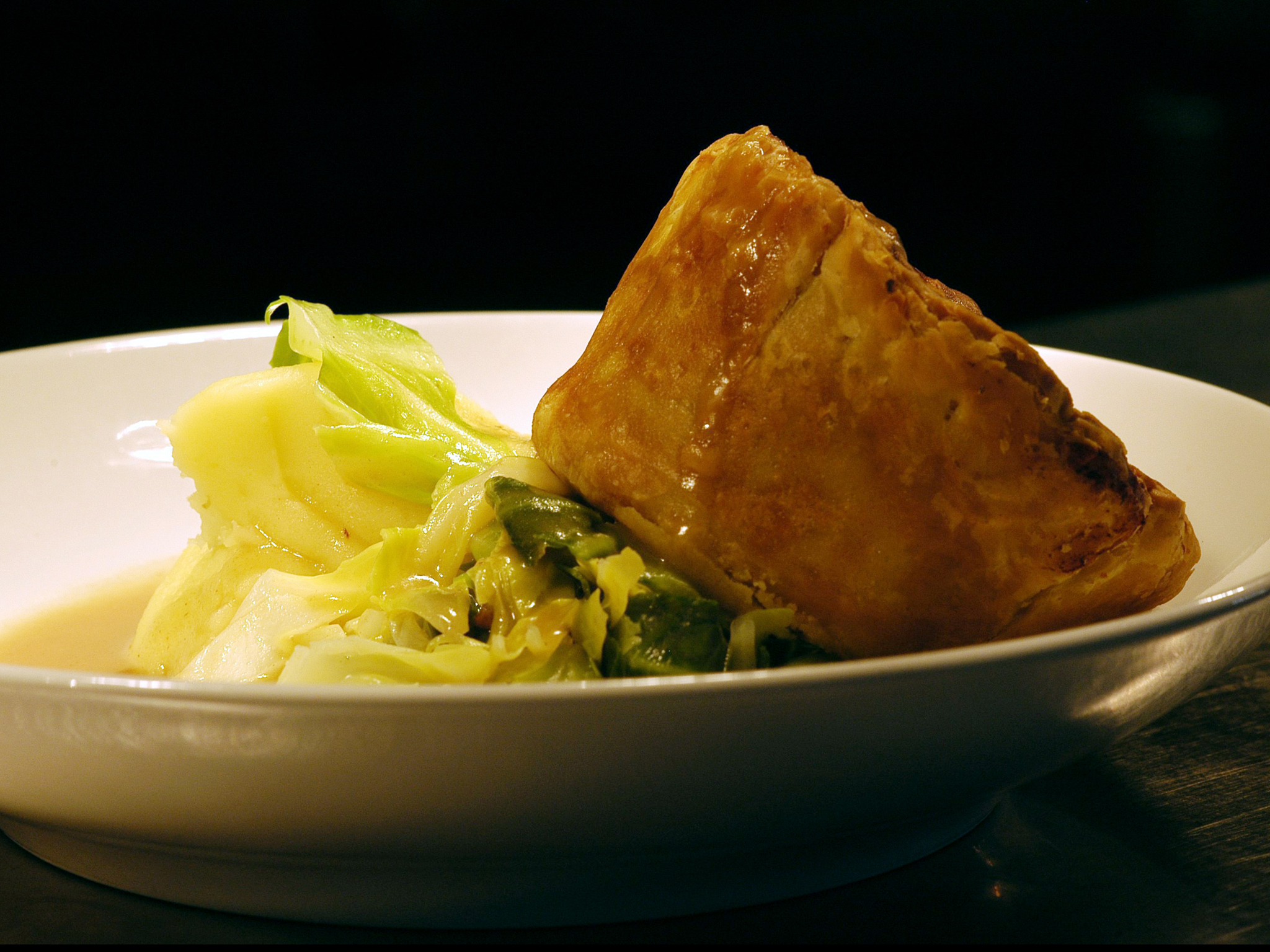 Chicken and mushroom pie at Canteen