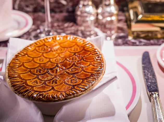 Champagne and truffle humble pie at Bob Bob Ricard
