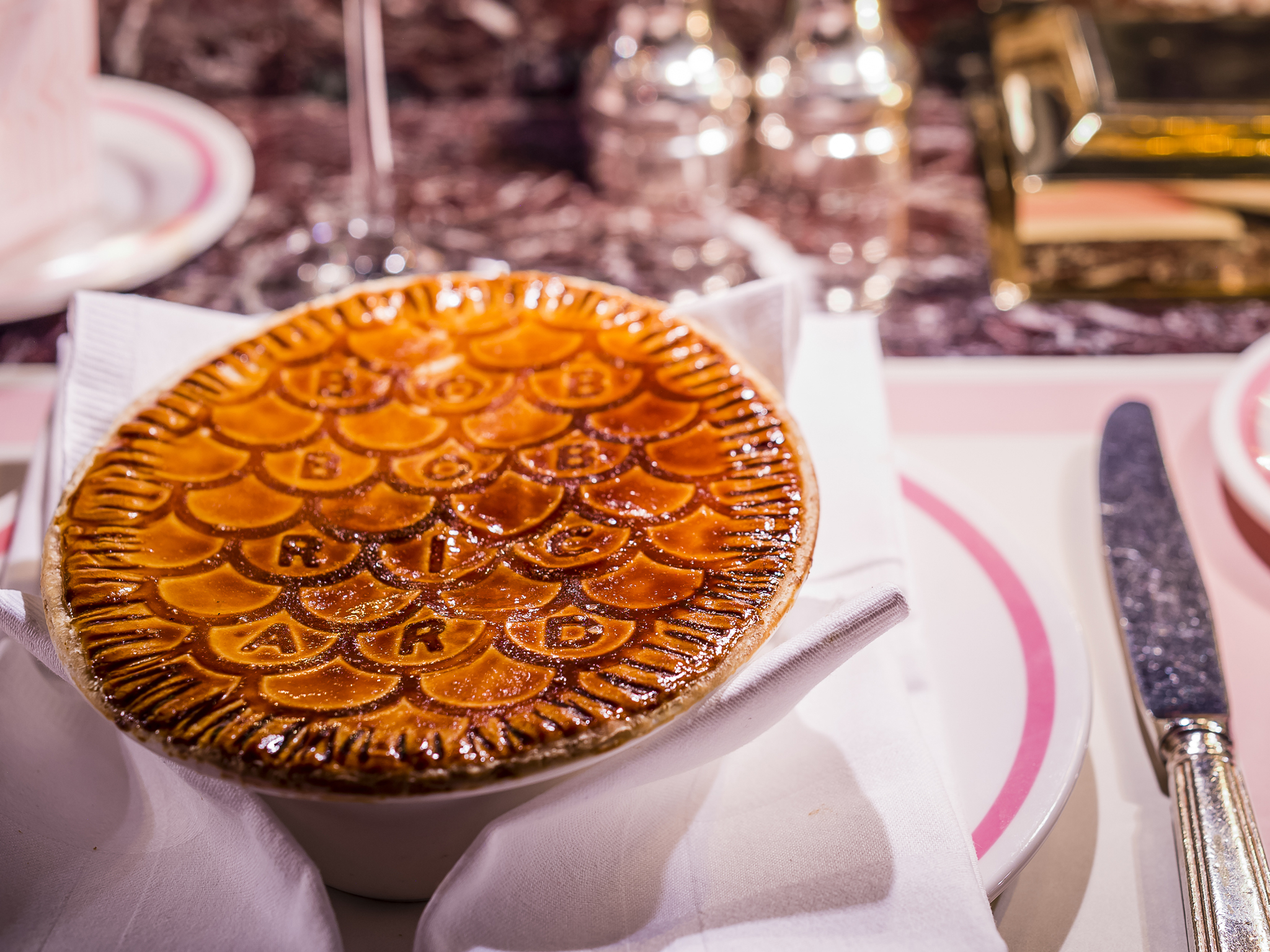 Champagne and truffle humble pie at Bob Bob Ricard