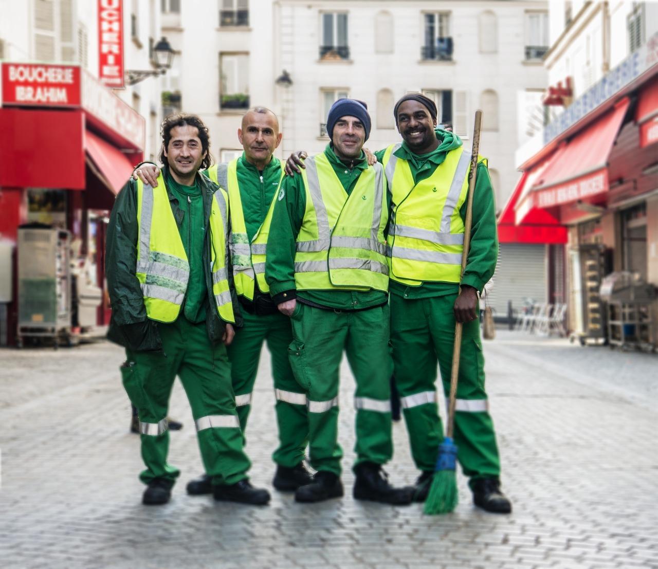 Gueules de Parisiens éboueurs