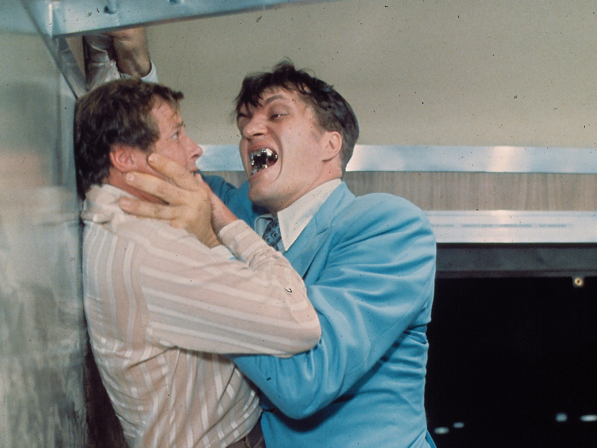 Roger Moore and Richard Kiel in 'The Spy Who Loved Me'