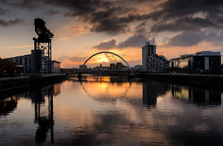 Pictures and photos of Glasgow at sunset and sunrise