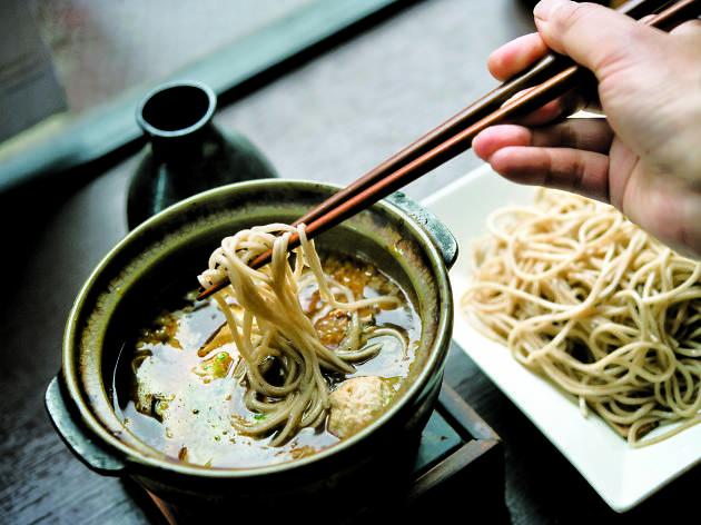 Soba noodles at Cocoron