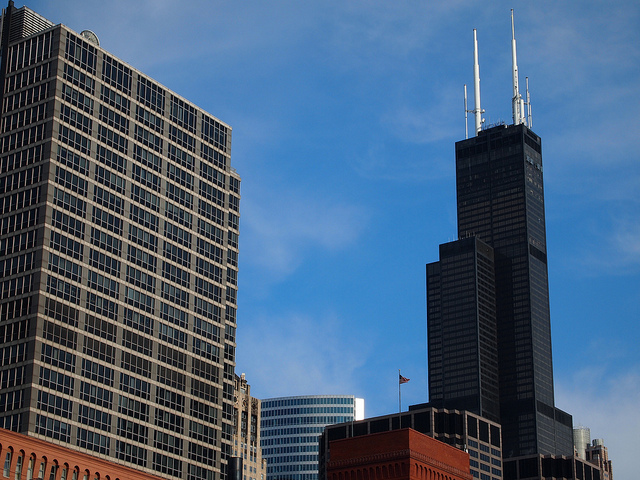 The building formerly known as the Sears Tower