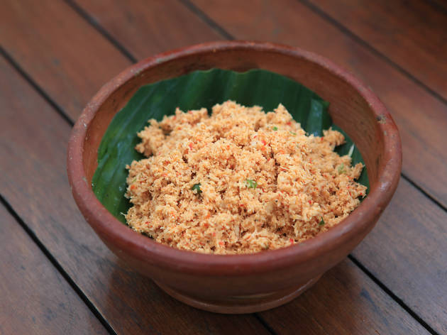 Pol Sambol is a side dish in sri lankan rice and curry