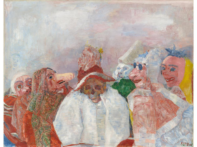 Masks Confronting Death (1888), James Ensor