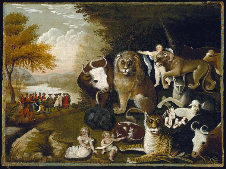 A Peaceable Kingdom (1833–34), Edward Hicks