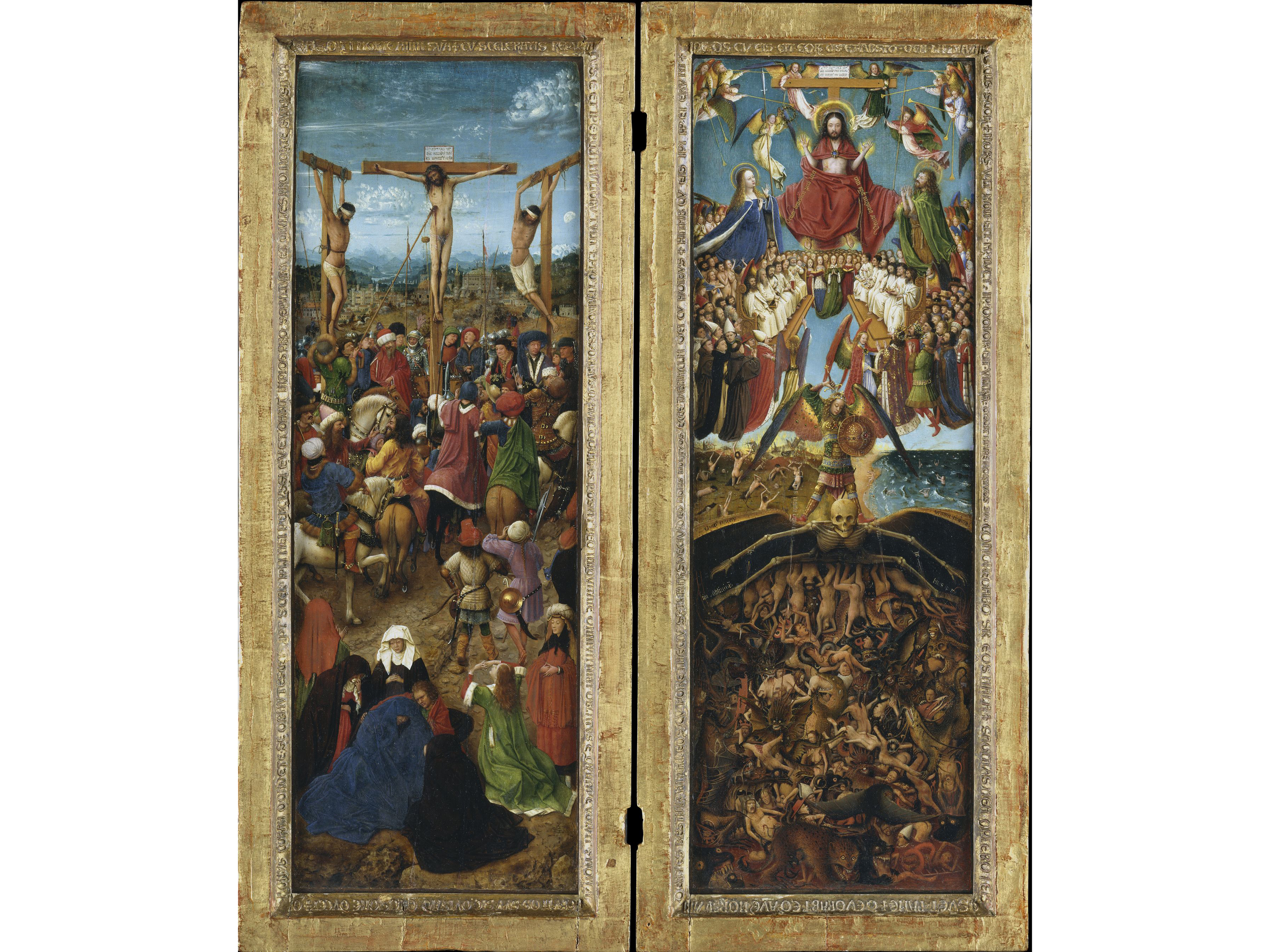 The Crucifixion; the Last Judgment (1430), Jan van Eyck