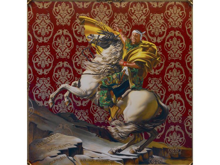 Napoleon Leading the Army Over the Alps (2005), Kehinde Wiley