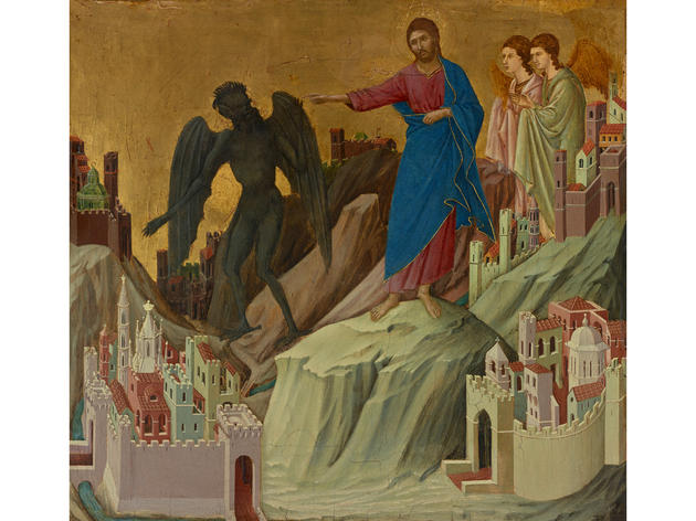 The Temptation of Christ on the Mountain (1308-1311), Duccio di Buoninsegna