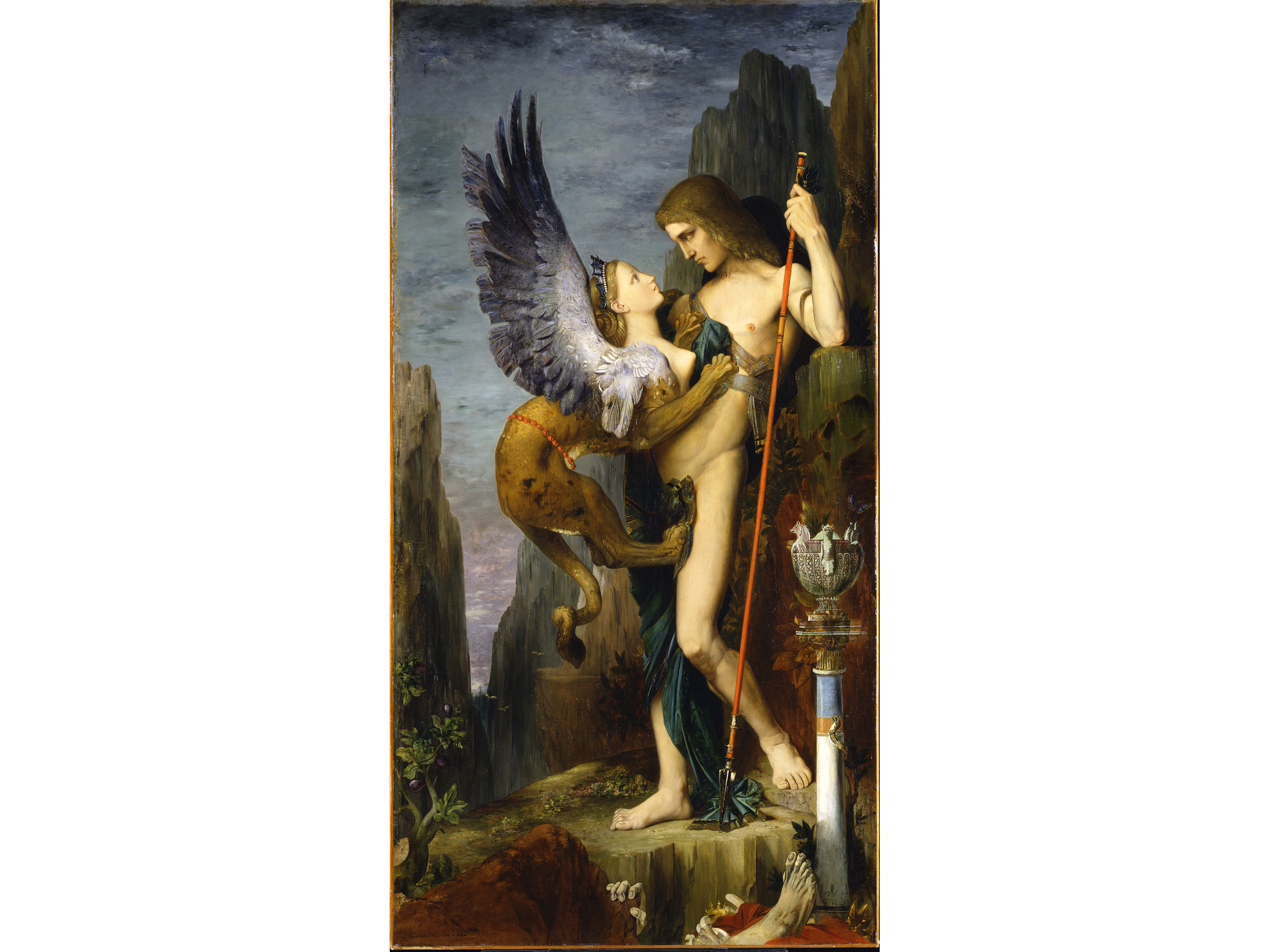 Oedipus and the Sphinx (1864), Gustave Moreau