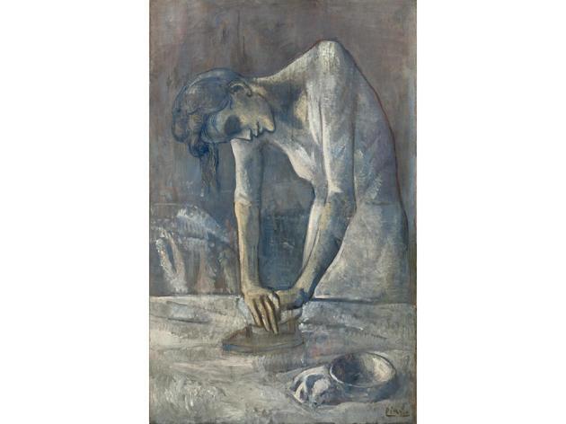 Woman Ironing, La Repasseuse (1904), Pablo Picasso