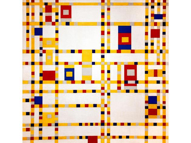 Broadway Boogie Woogie (1942–43), Piet Mondrian