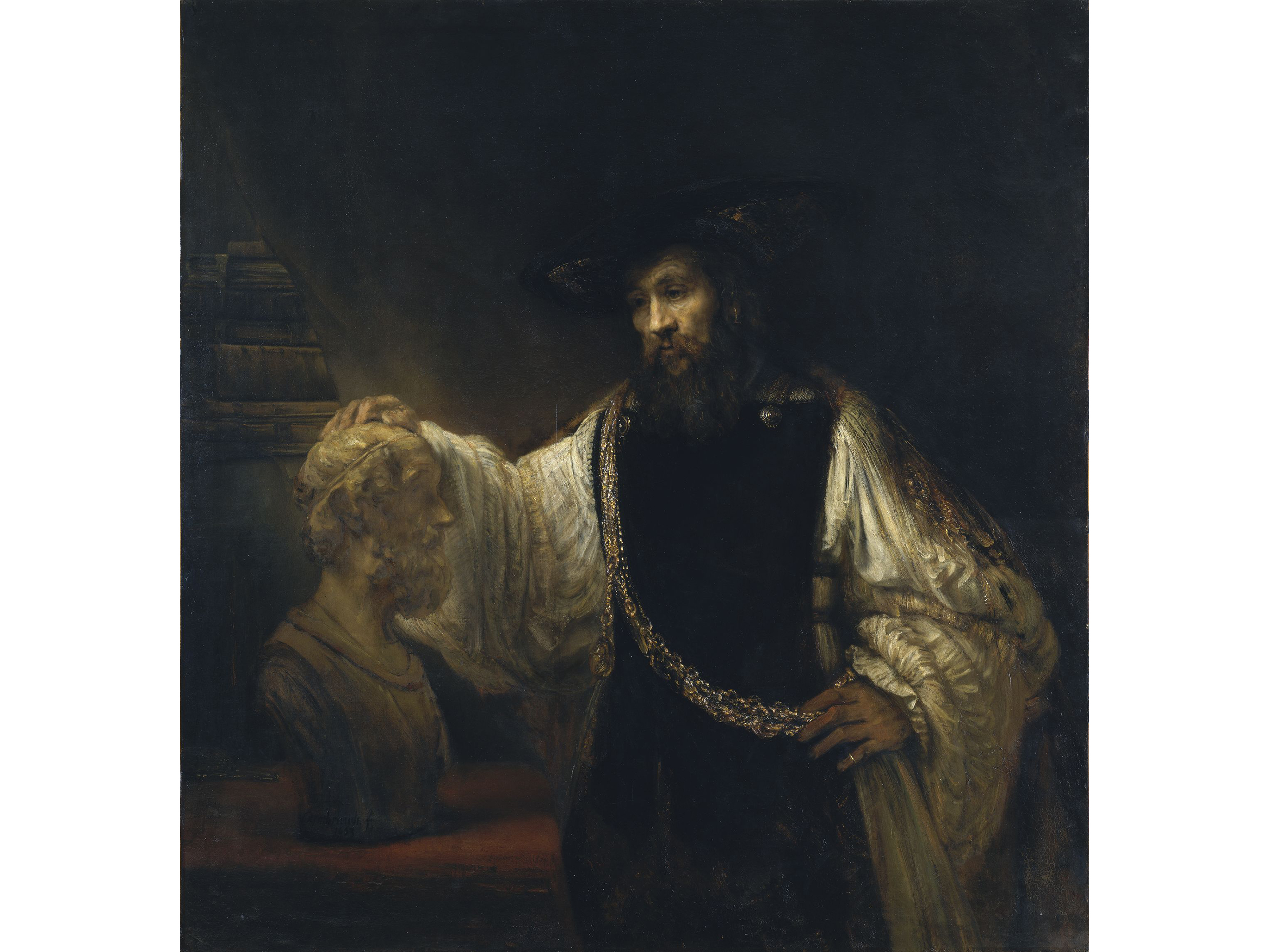 Aristotle with a Bust of Homer (1653), Rembrandt